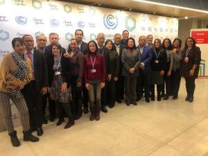 Parte de la delegación dominicana que participa en la COP24, que se desarrolla en Katowice, Polonia.